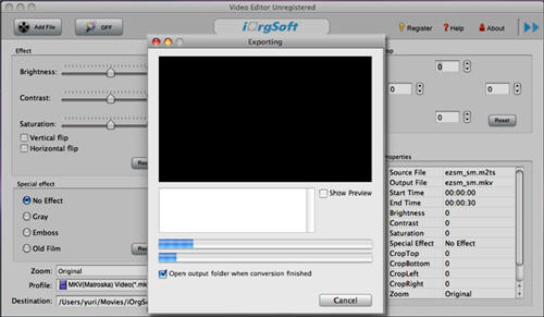 Mac MKV Splitter, split MKV files for Mac OS X(Snow Leopard